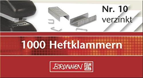 Brunnen 1020613 Heftklammern 10 (verzinkt, 1000 Stück)