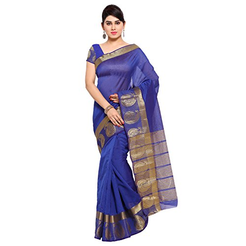 Oomph! Women's Art Silk Sarees Party Wear/Traditional Art Silk Sarees/Woven Art Silk Sarees, Blue