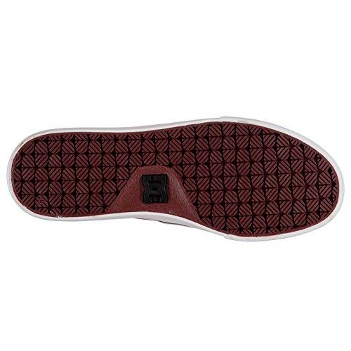 DC Herren Flash 2 Textil Skate Schuhe Canvas Turnschuhe Sneaker Skateboardschuhe Burgund