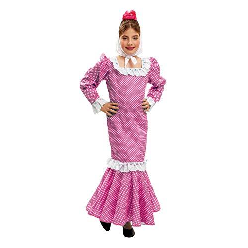 My Other Me Me - Disfraz de madrileña para niña, talla 5-6 años, color rosa (Viving Costumes MOM02151)