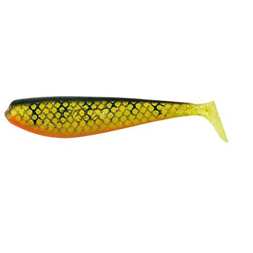 Fox Rage Zander Pro Shad Gummifische 10cm, Gummifisch für Zander, Hecht, Barsch, Kunstköder, Farbe:Natural Perch