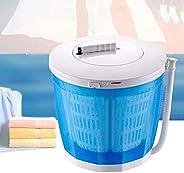 GOTOTOP Mini Machine à Laver Lave-Linge à Manivelle Portable Mini Séchoir 2 en 1 Non Electrique pour Camping A