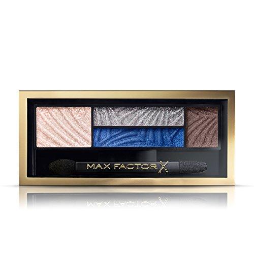 Max Factor Smokey Eye Drama Kit Azure Allure 06 – Lidschatten-Palette mit 4 neutralen und blauen...