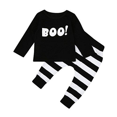 Halloween Babykleidung, QinMM Kinder Säugling Baby Junge Kleine Teufel Bluse Top + Streifenhosen Halloween Outfits Set (12-18M, (Halloween Outfits 2017)