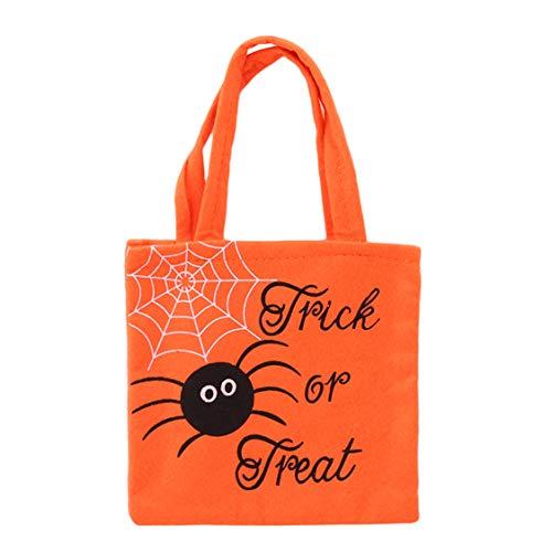 Idiytip Halloween Black Candy Aufbewahrungstasche Kürbis Lächeln Tasche Kinder Essen Handtasche Kinder Geschenk