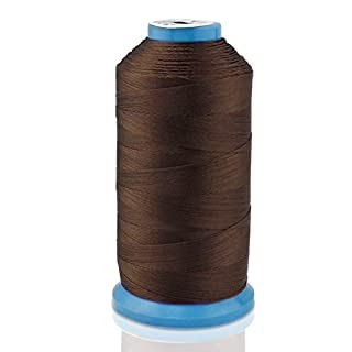 Aussel Bonded Nylon Sewing Thread 1500 Yard Size T70 #69 for the Upholstery, Outdoor Market, Drapery, Beading, Luggage, Purses (Brown)