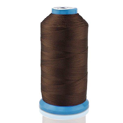 Aussel Bonded Nylon Nähgarn 1500 Yard Größe T70 # 69 für die Polsterung, Außenmarkt, Drapierung, Friesen, Gepäck, Geldbörsen (Brown) - - Brown-leder-gepäck