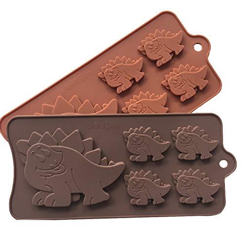 XiangChengShiDing Dinosaurier Silikon Kuchen Formen 5 Hohlraum 3D Dinosaurier Form Fondant Dekoration Werkzeuge Seife Kerze Schokoladenform DIY Backen Werkzeug (1pc)