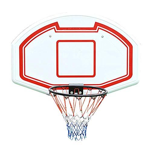 JHHXW An der Wand montiertes Basketballbrett Felgen Torschutznetze Hängender Basketballkorb Basketballständer Outdoor-Bewegung An der Wand montierter Rebounds für Erwachsene, 112x72 cm