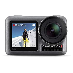 DJI OSMO Action Camera (Black) | Dual Screen | 12 MP Camera | 4K Recording Upto 60 FPS | Fast Mode Upto 240 FPS | HDR Recording