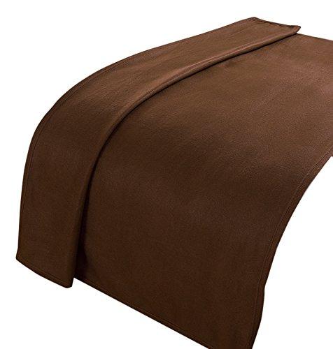 Dreamscene Throw Blanket, Bedspread, Chocolate Brown
