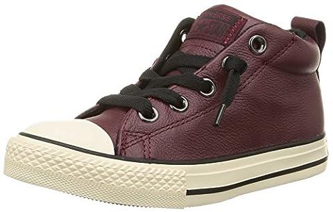 Converse Ctas Street Mid, Sneakers Hautes mixte enfant, Rouge (Bordeaux/Noir), 38 EU