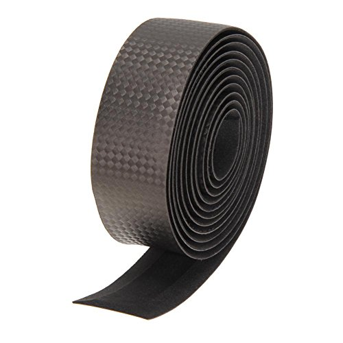 broadroot Fahrrad Cork Lenkerband schwarz + 2Bar Plug Karbonfaser Gurtband, grau