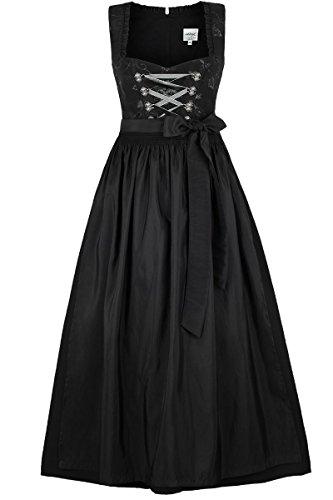 Damen Stützle Dirndl lang festlich schwarz, schwarz, 50