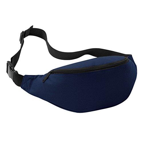 Praktische Brusttasche Hüfttasche Bauchtasche für Geld, Schlüssel und Handys usw. Sporttasche marineblau
