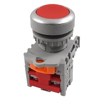 Aexit TN2 BF Schalter Rot Signal Momentane Druckschalter 22mm NC N/C 2 Schraube Drucktastenschalter Klemmen de