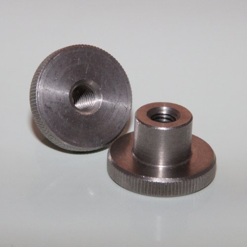 1 Stück Rändelmutter hohe Form M5 A1 DIN 466 Edelstahl Rändelmutter Mutter BiBa-Schrauben