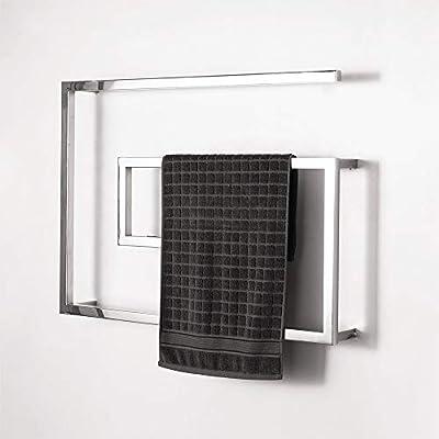 Martll Toallero eléctrico || Secadora de toallas || radiador toallero eléctrico en blanco || 800x600mm Para secar toallas, albornoces, chaquetas, trajes de baño, etc.