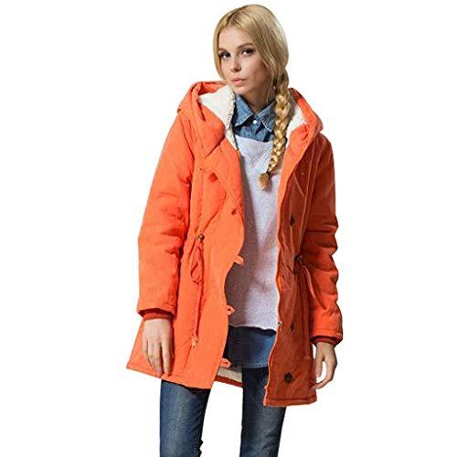 ➤Refill➤2036 Damen Winter Jacke Parka Winterjacke Teddyfell gefüttert Mantel bequem Solide Outdoor Jacken mit Kapuze Regenmantel Winddicht Parka Coat