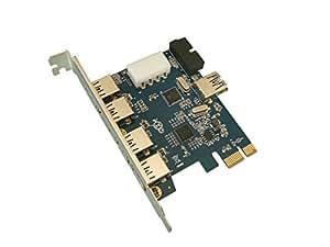 KALEA-INFORMATIQUE © - Carte Controleur PCI EXPRESS (PCI-E) vers USB 3.0 - 4 PORTS EXTERNES SUPERSPEED + 3 PORTS INTERNES AVEC CONNECTEUR INTERNE USB3 19 POINTS