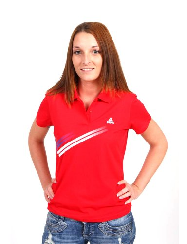 Peak Sport Europe F612178 Polo pour femme Rouge