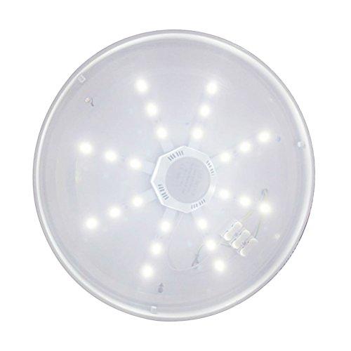 WINOMO blanco économiseuse de energía repuesto ventilador LED techo luz lámpara AC220V 12W 960lm...