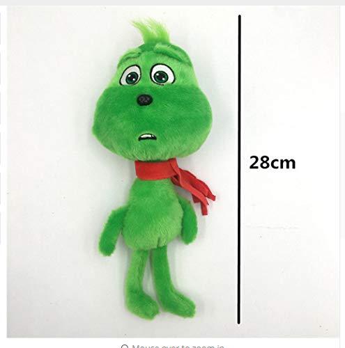 lp117 2019 Plüsch-Spielzeug, 18-38 cm, Motiv: How The Grinch Stole Movie Young Grinch Beans Santa Anzug Weihnachten, für ()