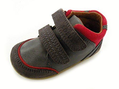 Bobux Schuhe ersten Schritte Klettverschluss Step Up Tumble männlich grau/rot 725902 Grigio/Rosso