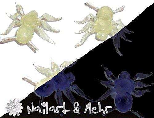 4 x Petites Araignées, nuit vif... à poser sur la situation Model.. une Halloween originale Nail Art
