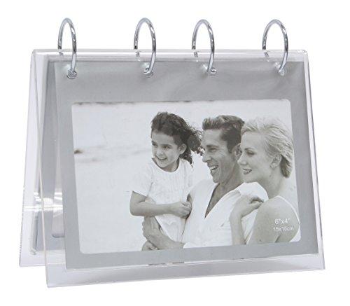 Deknudt Frames S58RS3 Bilderrahmen für 20 Fotos, 10 x 15 cm, silberfarben