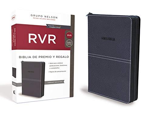 Biblia de Premio y Regalo Reina Valera Revisada, Leathersoft, Azul
