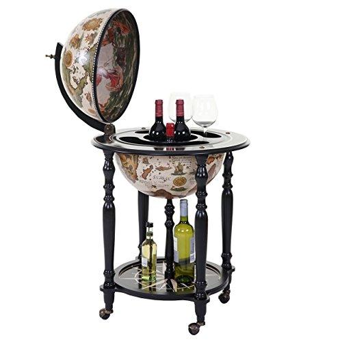 Mini Bar botellero Globo terráqueo Elegante hwc-a78Madera de eucalipto