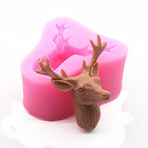 JYSPORT Silicone Moulds Cake Chocolate Cookies Sweet Mould Ice Cube Soap Mold Decoration Moulds (Deer