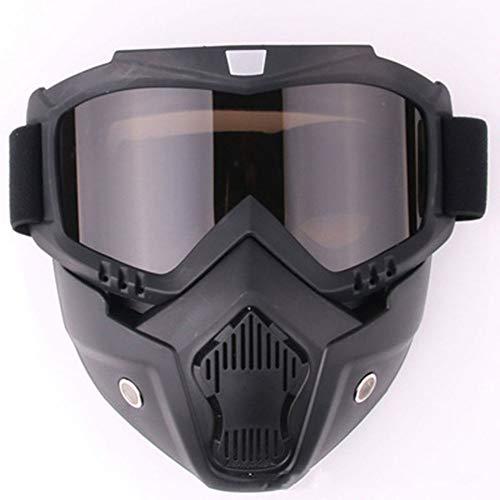 YHL Motocross-Brille Motorrad-Maske Mit Brille Mit Winddichtem Sand Anti-Friction Abnehmbar Für Das Fahren Im Freien,G -