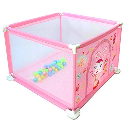 deAO Box per Bambini Parco Giochi e Piscina di Palline Palestrina Include Palle di Colore (Quadrato Rosa)