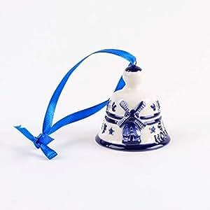 holland weihnachtsdekoration glocke keramik delfter blau weihnachtsbaum ornament. Black Bedroom Furniture Sets. Home Design Ideas