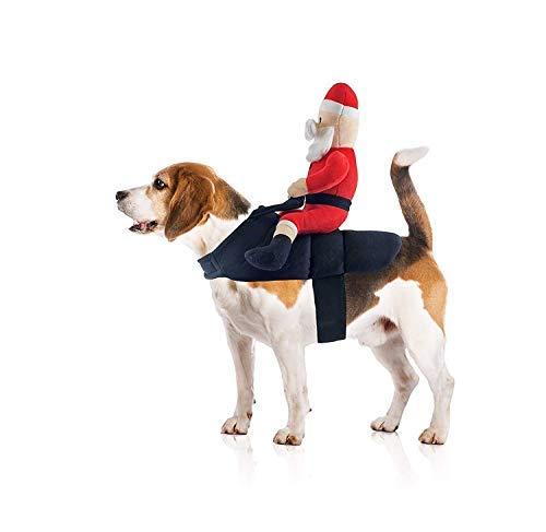 Midlee Santa Claus Jockey Hund Kostüm