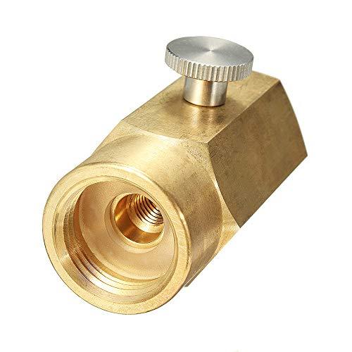 HELEISH Zylinderkit für CO2-Nachfülladapteranschluss CGA320-Gewindesatz zum Befüllen des SodaStream-Tanks Zubehörwerkzeug
