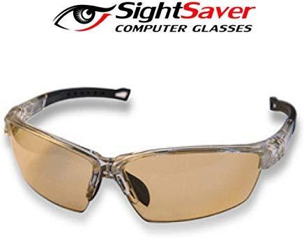 Patentierte, Gebogene Blaue lichtblockierende Brille verhindert Migräne trockene Augen - Premium Blendschutz Linsen schützen vor ungefiltertem Licht Computerbrille für Gaming für Männer und Frauen