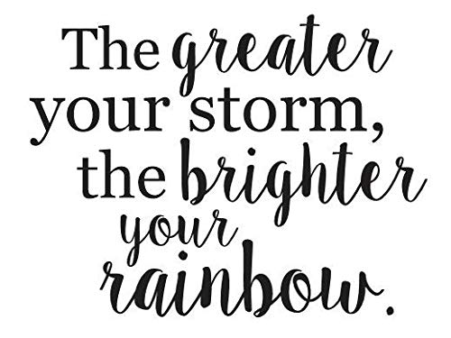 EricauBird El rallador tu tormenta, el Brillo de tu Arco Iris - Calcomanía fácil de aplicar y extraíble...