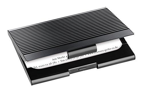 Sigel VZ134 Visitenkarten-Etui schwarz, mit gerillter Oberfläche - weitere Modelle