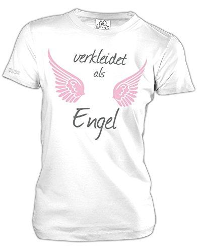VERKLEIDET ALS ENGEL - KOSTÜM - Weiss - WOMEN T-SHIRT by Jayess Gr. L (Lady Engel Kostüm)