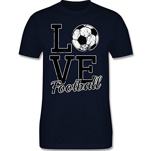 Fußball - Love Football - Herren Premium T-Shirt Navy Blau