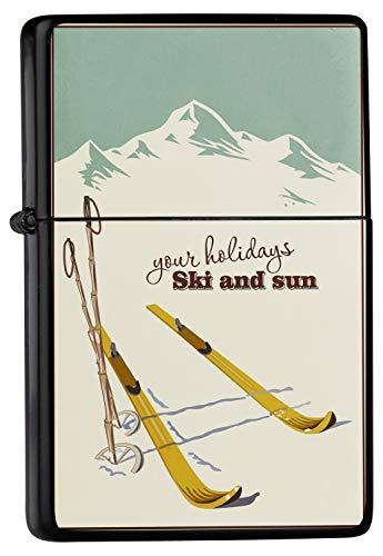 Encendedor De Gasolina Impreso Recargable Vacaciones esquí