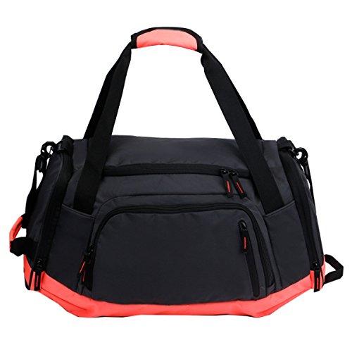 LAIDAYE Sport Und Handtrainingsbeutel Fitness-Taschen Sporttasche Fitnesstasche Große Kapazität Handtasche Orange