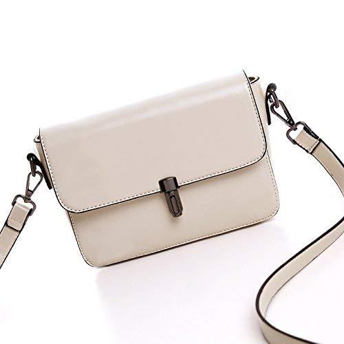 QWA Handtaschen Fashion Einzelner Schulterbeutel Lady'S Simple Casual Handbag,Reis weiß,