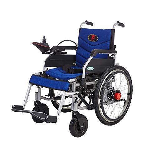 GX-Wheelchair Manuale per Sedia a Rotelle Elettrica Carrello a Mano a Doppio Uso Elettrico per Disabili Carrello per Auto Pieghevole Portatile Pieghevole 120 kg Carrozzine Pieghevoli L
