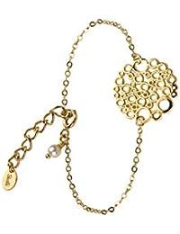 Skalli - Bracelet chaîne - Laiton - Limonade - 15 cm à 16 cm - LM06VD Perle