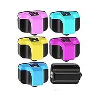 1 Compatible Remplacer pour HP 363XL  2 Couleurs Inclus:1 Noir,1 Cyan,1 Magenta,1 Jaune,1 Cyan Clair,1 Magenta Clair .  3 Compatible avec les imprimantes suivantes:: Photosmart 3110, 3210, 3300, 3310, 8230, 8250, C5140, C5150, C5180, C6150, C6180, C6...