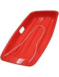 3x trineo de nieve color rojo plástico trineo trineos con cuerda para niños y niños